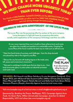 Lucas Plan Conference flyer